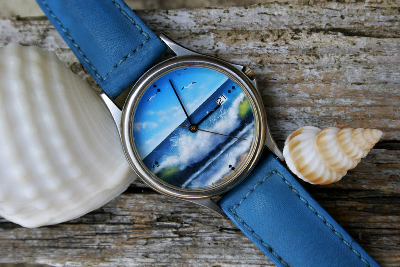 Dipinto su quadrante orologio Breil